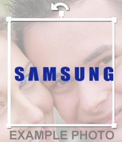 Sticker of SAMSUNG brand logo for your photos