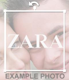 Logo sticker of the clothing brand ZARA for your photos