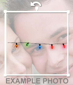 Sticker of Christmas lights to decorate your photo