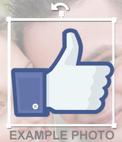 Thumb up online sticker for your photos
