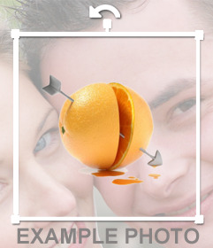 Photo effect to add a orange with an arrow of love on your photos