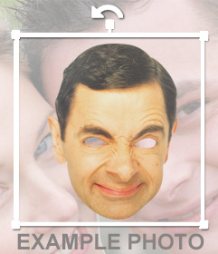 Wear this funny mask of Mr. Bean face and for free