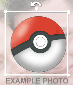 Free sticker of a pokeball that you can paste on your photos