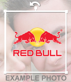Red Bull sticker to put on your photos