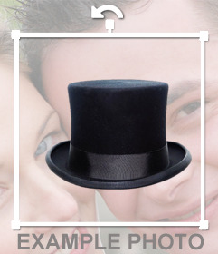 Wear a black top hat with this elegant sticker