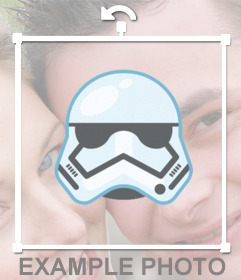 Sticker of the Mask of a Stormtrooper for your photos