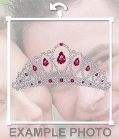 Put yourself a diamond tiara with this online photo effect