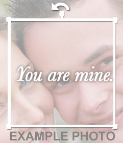 Decorate your photos with the phrase YOU ARE MINE with this sticker