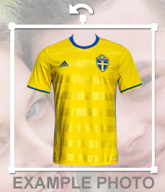 Shirt of Sweden national football team to put in your photos