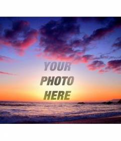 Mounting to do with your photo of multicolored sunset
