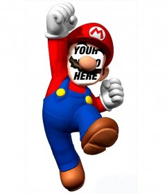 Photomontage to put your face on Super Mario and have fun