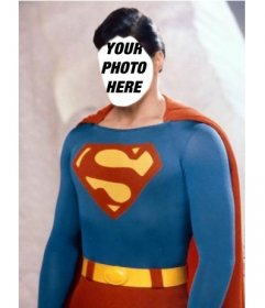 Photomontage to become Superman with the photo you want