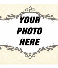 Vintage style photo frame