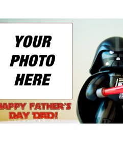 Congratulate Fathers Day with this funny Star Wars greeting card
