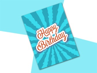 Celebrate your birthday with this original card to edit with two pictures