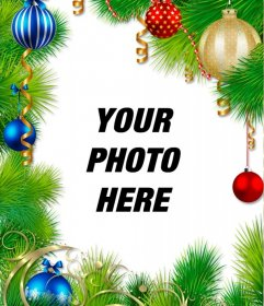 Christmas wreath to decorate your picture