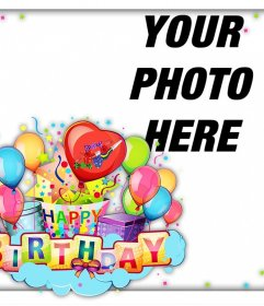Colorful and cheerful card to celebrate a Happy Birthday
