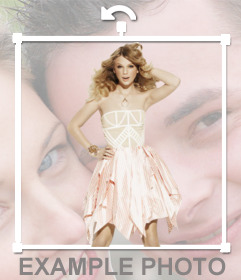 Put the silhouette of Taylor Swift on the photo you want, making the effect is on your side!