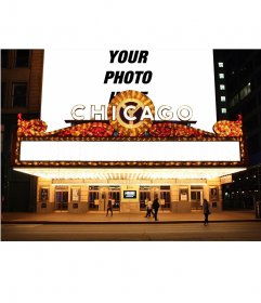 Photomontage with your photo on the billboard of a theater