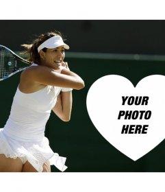 Make your photo effect with the tennis player Garbiñe Muguruza