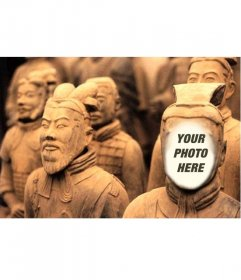 Terracotta warrior Photomontage in which you can put your photo