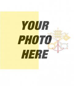 Filter to put the flag of the Vatican with your background photo