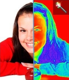 Thermal camera filter for your photos
