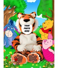 Virtual tiger costume for children that you can edit with your photo