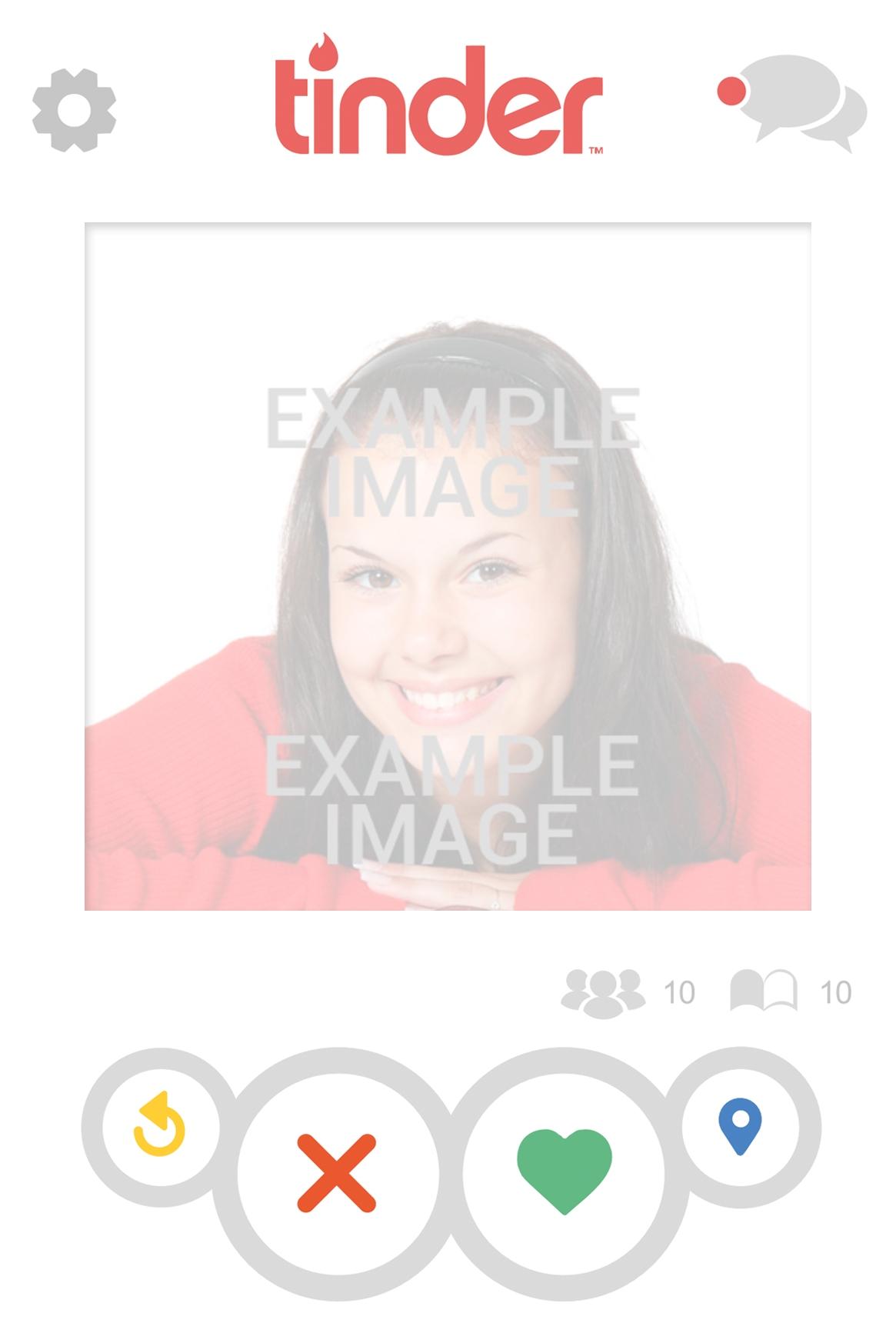 Fake Tinder profile photo montage