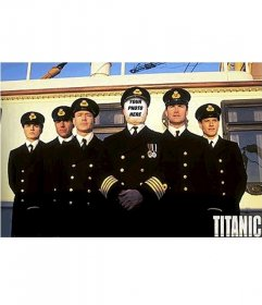 Photomontage of the captain of the Titanic. With your own photo!