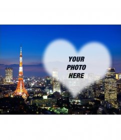 Postcard with a picture of Tokyo