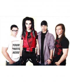 With this photo effect you go forth on the shirt of a member of Tokio Hotel