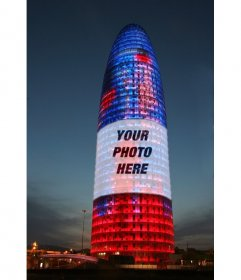 Photomontage in which youll put your photo on the Agbar Tower in Barcelona