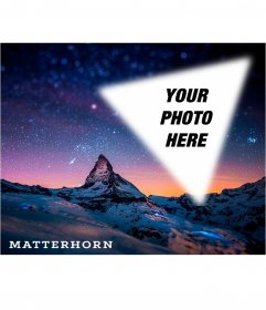 Postcard of the Matterhorn with your photo
