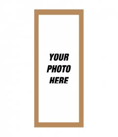 Photo frame for pictures triple 3 frames with brown and white background