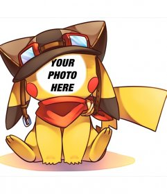 Photomontage of a picture of Pikachu that you can edit