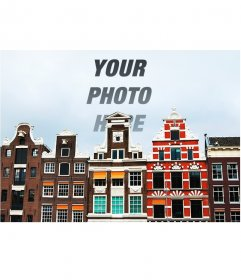 Special collage with a photo of Amsterdam