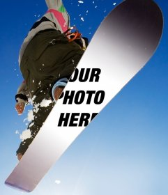 Customize this snowboard with the photo you want
