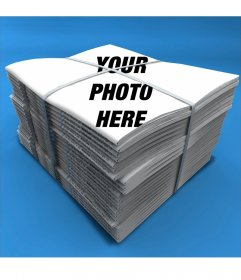Photomontage to put your photo on the cover of a newspaper