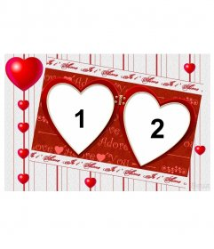 """Frame for two photos for Valentine""""s day. Edit this photomontage and many other online, free from this page"""