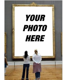Photomontage to put your photo in a museum painting