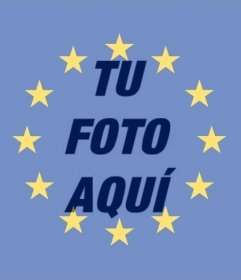 Flag of the European Union to put in your photo