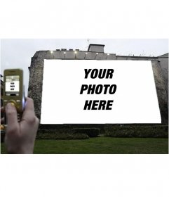 Photomontage to put your photo on a billboard