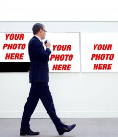 You want to get a picture of a museum with this photomontage?