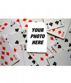 Photomontage to put your photo on the ace in the deck. are You?