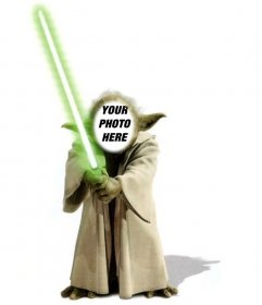 Template of photomontage of Yoda from Star Wars to add your face