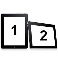 Get into two frames simple. Upload two photos for this montage in which images appear on two digital picture frames on a white background