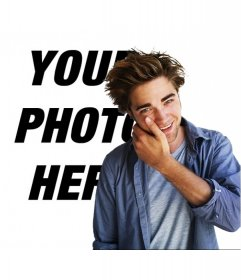 Photomontage to take a picture with Robert Pattinson from the movie Twilight